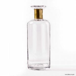 GLAS VASE GOLDREIF H 35CM