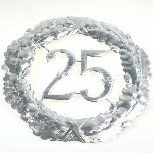 "ZAHLENKRANZ ""25"" 40CM"