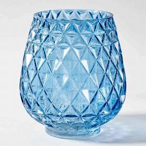 GLAS VASE MUSTER RUND H20CM