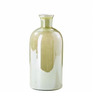 GLAS FLASCHE VINTAGE H 23CM