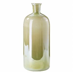 GLAS FLASCHE VINTAGE H 33CM