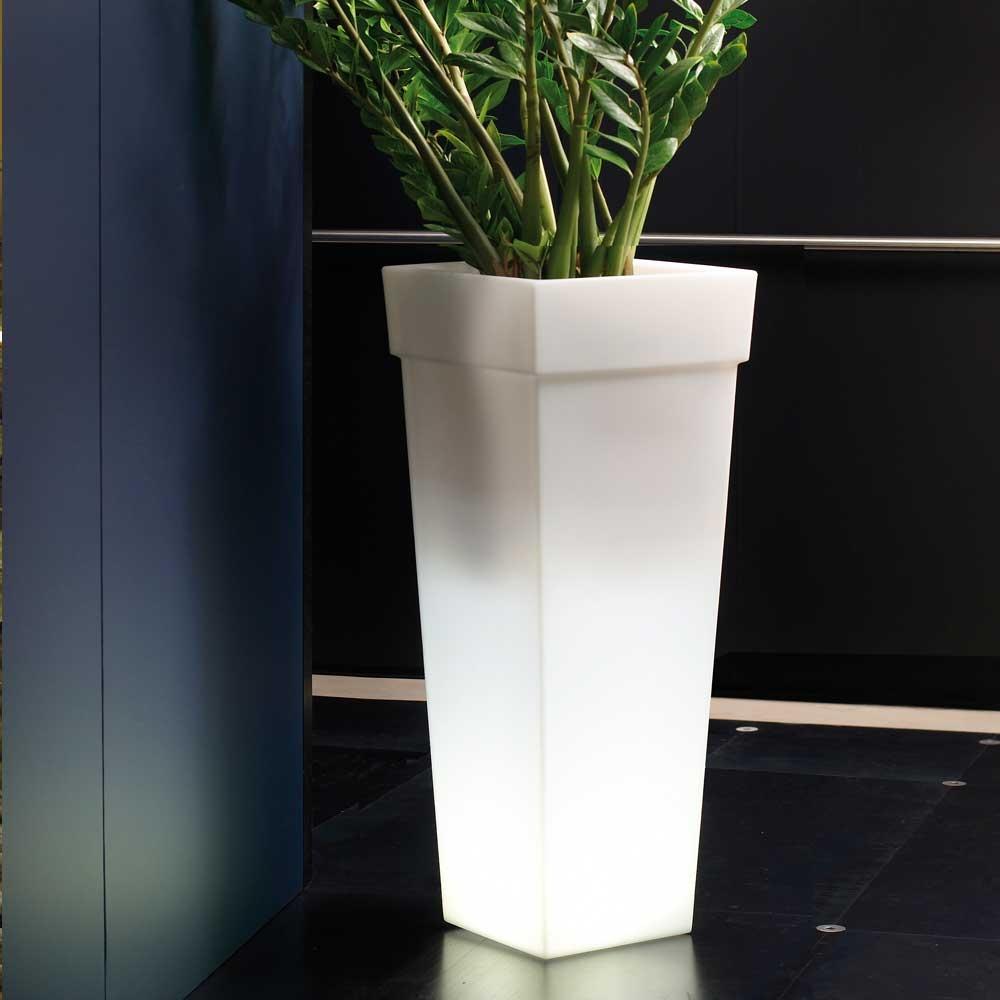kunststoff leucht gef vase geryon h 100 cm wei. Black Bedroom Furniture Sets. Home Design Ideas