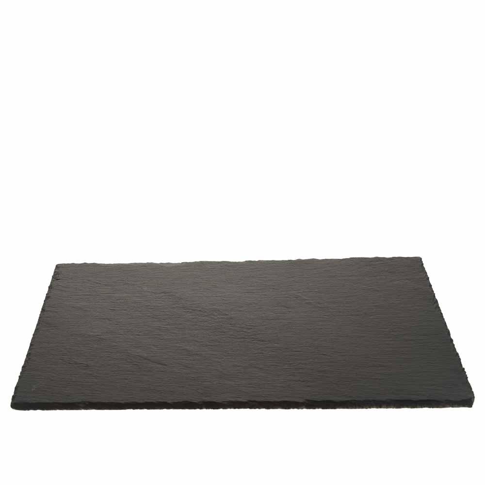 Schiefer platte rechteckig 45x30cm schwarz for Schiefer platte