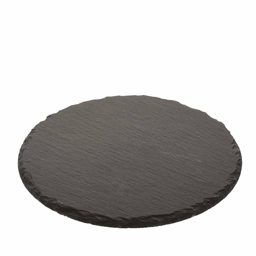 Schiefer platte rund o20cm schwarz for Schiefer platte