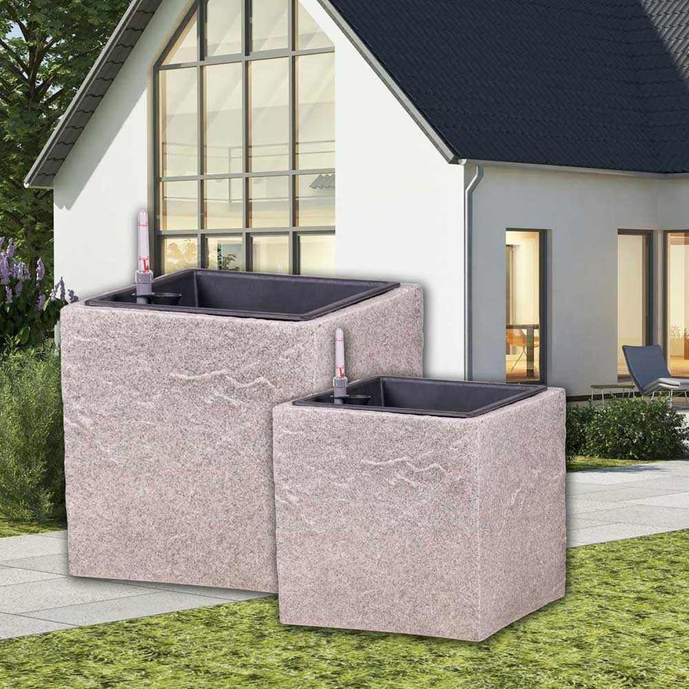 glasfaser topf anton l50cm granit. Black Bedroom Furniture Sets. Home Design Ideas