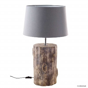 KERAMIK LAMPENFUß HOLZOPTIK