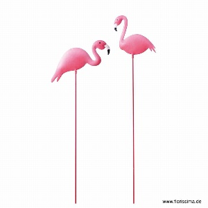 METALL GARTENSTECKER FLAMINGO