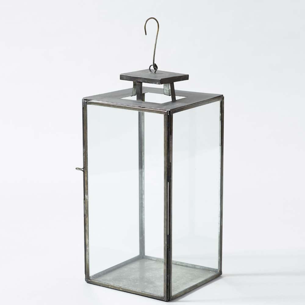 metall laterne 13x29cm schwarz. Black Bedroom Furniture Sets. Home Design Ideas