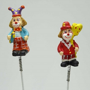POLY CLOWN AM PICK L 25CM BUNT