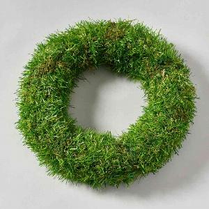 KUNST GRAS KRANZ D25CM GRÜN
