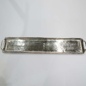 METALL TABLETT 13X66CM SILBER