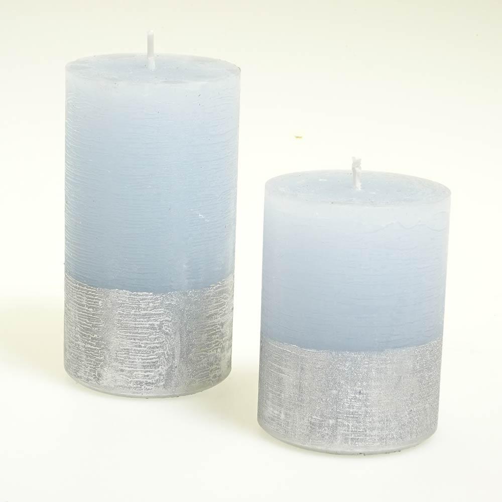 Dekor Kerze Trend Stumpe Pan 301 110 60 Sc Eisblau