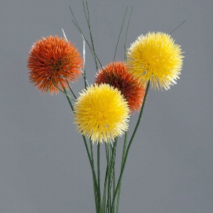 KUNST ALLIUM L 48CM ORANGE,