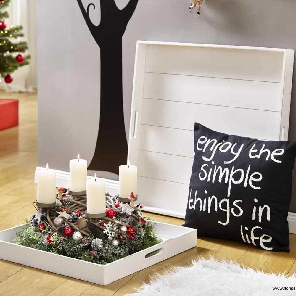 holz tablett m griffen quadr l65 wei antik. Black Bedroom Furniture Sets. Home Design Ideas
